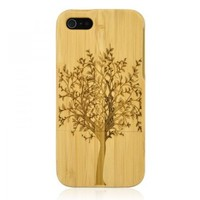 Hand Carved Bamboo Iphone 5 Case-tree