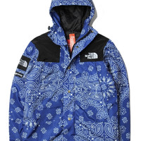 Supreme X North Face Blue Bandana Jacket