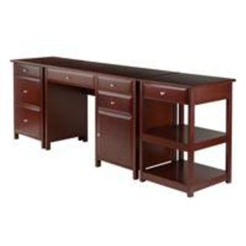 Winsome Wood 94387 Delta 3-Pc Home Office Set