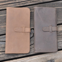 vintage handmade genuine leather long wallet gift 30