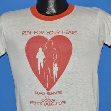 80s Run For Your Heart Toccoa Georgia t-shirt Small