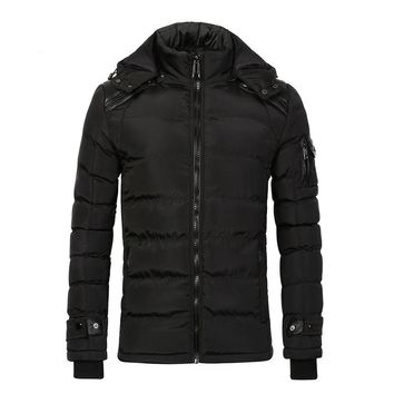 COUTUDI Warm Jackets For Men Cotton Black Puffer Down Jacket Waterproof Men Winter Coat Male Quality Parkas