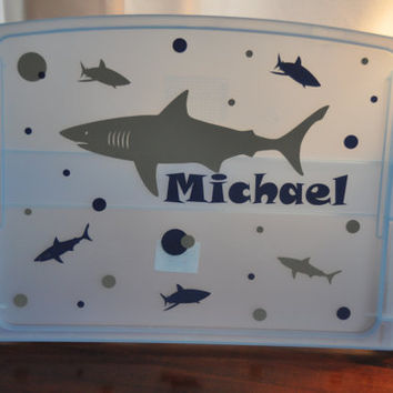 Personalized Lap Desk/ Child Lap Desk/ Lap Tray/ Shark