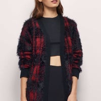 Diem Plaid Cardigan