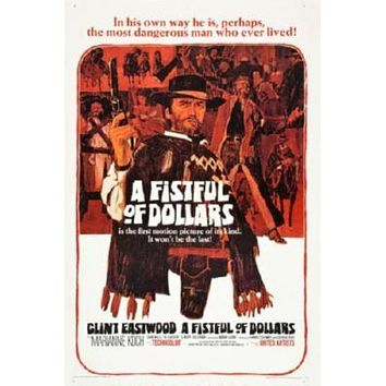 Fistful Of Dollars Movie poster Metal Sign Wall Art 8in x 12in