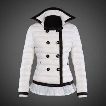 ONETOW Moncler reduced Dali low collar quilted down jacket for women white