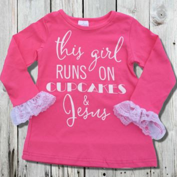 Cupcakes & Jesus Lace Top