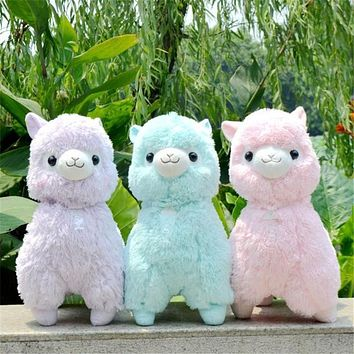 35,45cm Japanese Alpacasso Soft Toys Doll Giant Stuffed Animals Lama Toy 5 Colors Kawaii Alpaca Plush Kids Christmas Gift