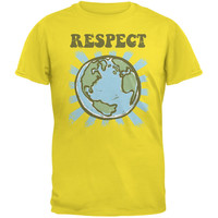 Earth Day - Respect Earth Yellow Adult T-Shirt