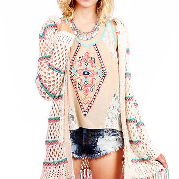 Candy Stripes Knit Cardigan