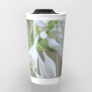 Foxglove Penstemon Travel Mug by Theresa Campbell D'August Art