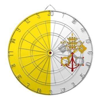 Dartboard with Flag of Vatican