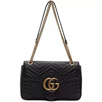 Gucci.Women's GG Marmont Medium Inclined Shoulder Bag