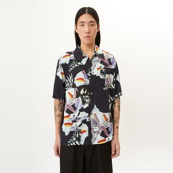 Box Short Sleeve in Crushed Tiles Print