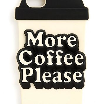 More Coffee Please Silicone iPhone Cell Phone Case by Bando - Fits iPhone 7 & 8