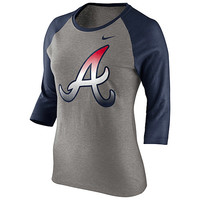 Atlanta Braves Women's Raglan Long Sleeve Top by Nike - MLB.com Shop