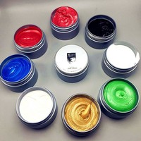 Instant Hair Colour Pomades Waxes White Purple Gray Silver Ash Wax Hair Color Wax Mud Disposable Modeling Dye Cream Washable