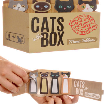 Cats in the Box Sticky Note Tabbies