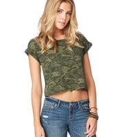 Womens Map to Mars Camo Boxy T-Shirt