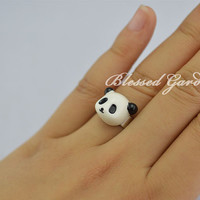 panda ring,panda, cute rings,cute panda, girlfriend gift,blessed garden