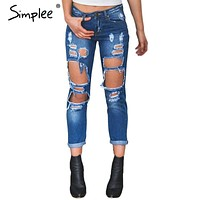 Hole ripped Denim jeans