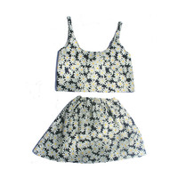 Daisy Crop and skirt set