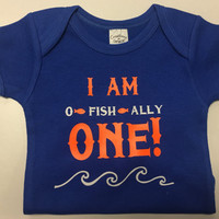 I am oh fish ally one two three four etc birthday top any age