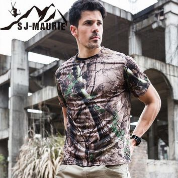 Military Camouflage T Shirt Men Army Combat Hunting Base Tactical T-Shirt Summer Quick Dry Breathable Man Camo T Shirts