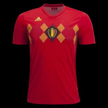 KUYOU Belgium 2018 World Cup Home Men Soccer Jersey Personalized Name and Number