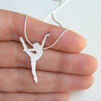 Sterling Silver Dancer Necklace Pen.. on Luulla