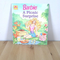 Barbie: A Picnic Surprise {1990} Vintage Book