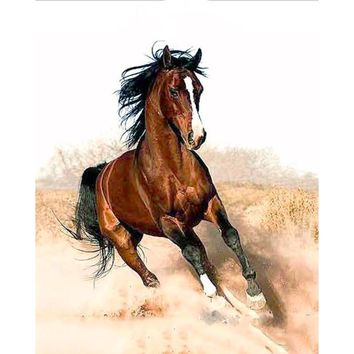 Running Horse DIY Oil Painting By Numbers Canvas Art Kit - DIY Art Home Decor