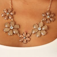 Flowers For You Necklace: Multi