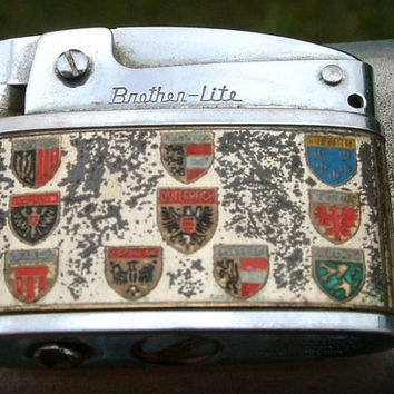 "Vintage lighter/stamped ""Brother""lighter /Austria theme( shipping only in EU and USA)"