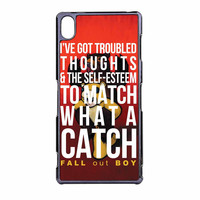 Fall Out Boy Watch A Catch Quote Sony Xperia Z3 Case