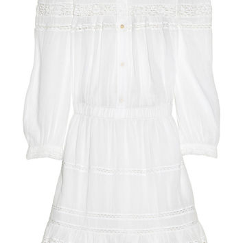 Étoile Isabel Marant | Greta lace and cotton-voile dress | NET-A-PORTER.COM