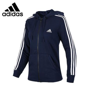 Original New Arrival 2017 Adidas Performance ESS 3S FZH SL Women's jacket Hooded Sport