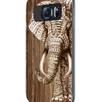 Wood Elephant Aztec Samsung Galaxy S4 S5 S6 Case (samsung s6 black)