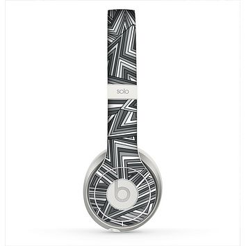The Jagged Abstract Graytone Skin for the Beats by Dre Solo 2 Headphones