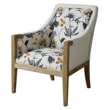 Uttermost Floral Curran Armchair - 23134