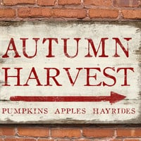 Autumn Harvest wooden sign.  Handmade. Approx. 13x19x.75 inches