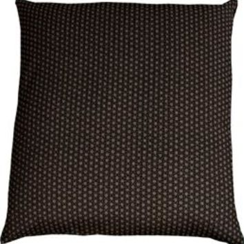 J-Life Asa No Ha Black #2 Zabuton Floor Pillow