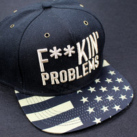 2014 new brand hot sale black/gold fuckin problems adjustable baseball snapback hats and caps for men/women sports hip hop cap