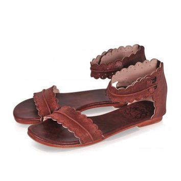 Summer Sandals Flat Ankle Strap Casual