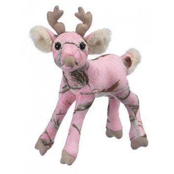 Plush Pink Realtree Camo Deer - Girls Camo Newborn - 24 Months - Girl's Camouflage Clothing - Baby & Kids