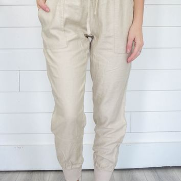 Off The Beaten Path Pants - Sand