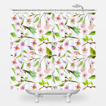 Budding Spring Shower Curtain