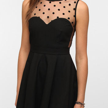 Urban Outfitters - Coincidence & Chance Crepe Mesh Dot Dress