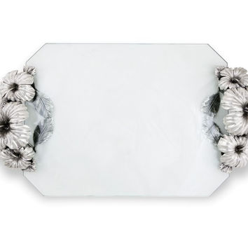 Hibiscus Flower Glass Tray