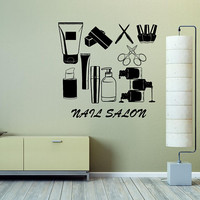 Nail Salon Decal, Custom Sign, Custom Wall Decal, Beauty Salon Sign, Nail Salon Window Decal, Store Front Sign, Custom Business Sign  nm044